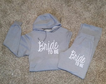 Bride to Be ( Bridal Hoodie and Sweat Pants), glitter