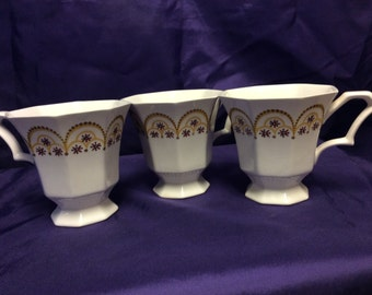 Independence Ironstone Interpace Japan Cups 3 with matching patterns