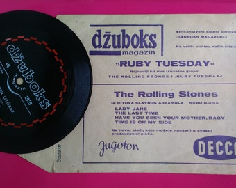 The Rolling Stones Ruby Tuesday 1967 Flexi-disc Single Sided Jugoton