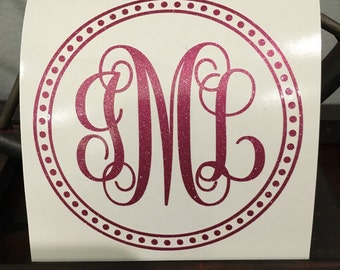 Monogram Circle Decal for Yeti 30 oz tumbler