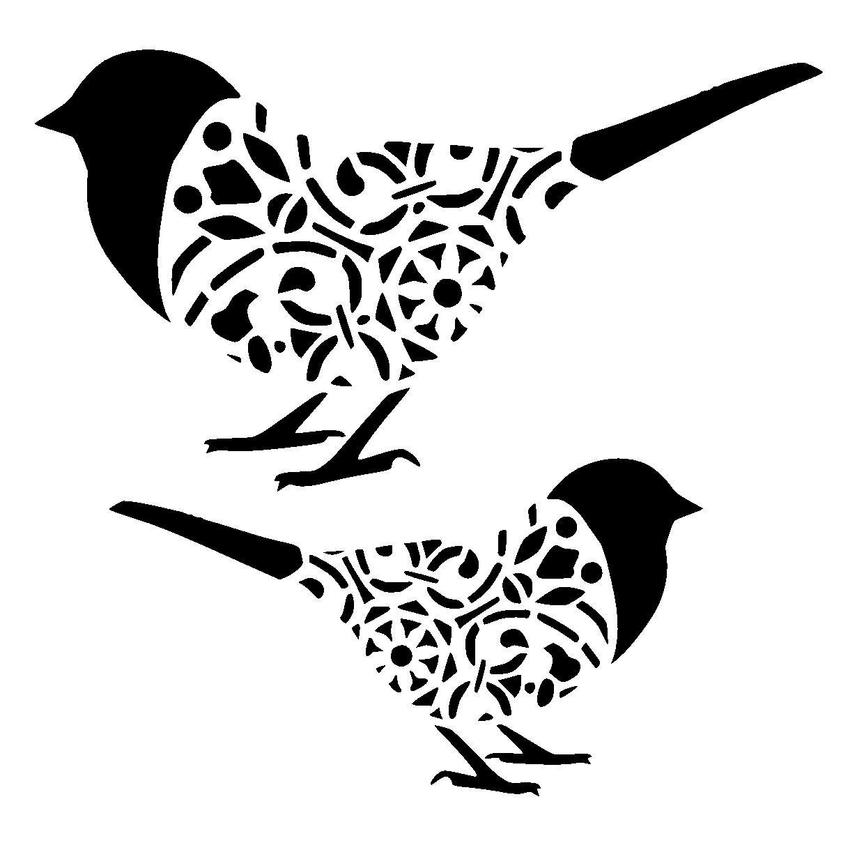 Witty image in bird stencil printable