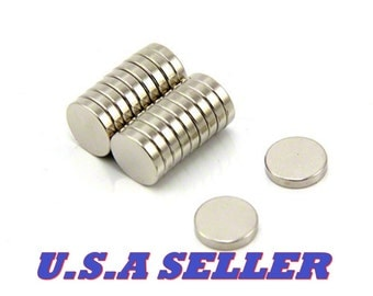 50PCS 10mm X 2mm Round Disc Strong Rare Earth Magnets Neodymium N52 Project Magnets Craft magnets U.S Shipped