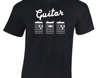 Guitar D A D T-Shirt. Cool Guitarist Chord Tab inspired design. Rocker, Acoustic, Shredder, Daddy, Fathers Day, Birthday Gift or Present