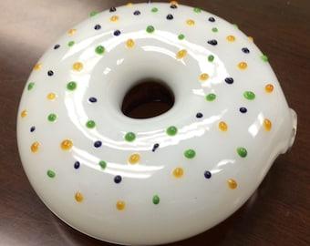 Brown Sprinkles donut Hand Pipe