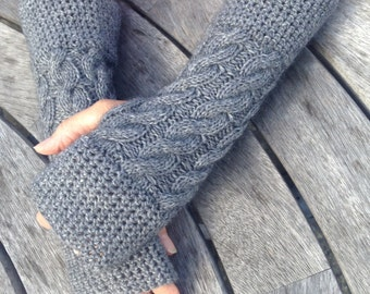 Cashmere gloves, fingerless mittens by Willow Luxury (one size)
