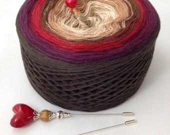 Unikat Yarn multicolored, lace weight, 4ply
