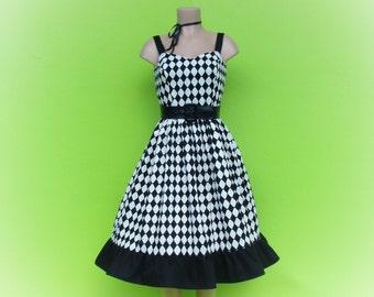 Harlequin Dress, Halloween Dress, Harley Quinn dress, joker dress, jester dress,