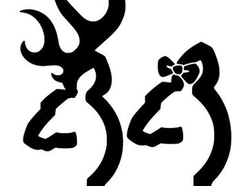 Browning Buck & Doe .SVG.EPS.DXF