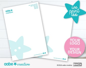 Custom Letterhead Design... we print too :)