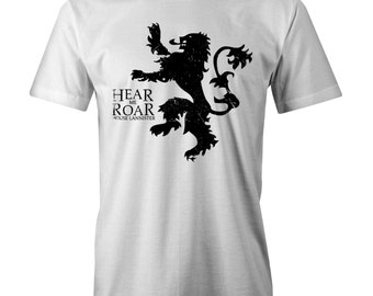 Game Of Thrones Hear Me Roar Lannisters T-shirt Funny Jaime
