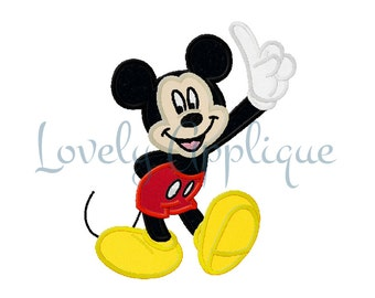 Mickey Mouse Applique Design - Instant Download