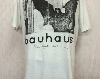 Vintage 80s BAUHAUS Band Tshirt Post-Punk XL