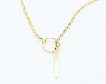 Infinity Lariat Pendant Necklace