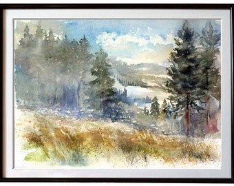 No fuss events - Watercolor Painting Wet On Wet - Wall Art Watercolor Landscape Wall Art