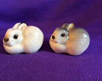 LOMONOSOV rabbit set-Porcelain Figurines