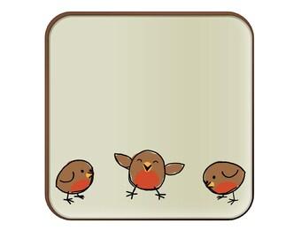 Three Robins coaster
