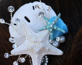 Starfish Bridal Comb/ Beach Themed Comb