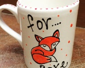 Hand painted Fox Mug...