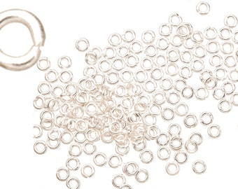21 gauge Jump Rings Jump Rings Silver plated brass 3mm sold per 300pcs