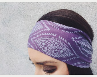 Yoga Headband in Plum