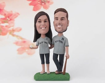 One Year Anniversary Gift for Wife | Gift for Husband | Personalized Bobblehead |1st First Anniversary Gift for Him or Her Paper Anniversary