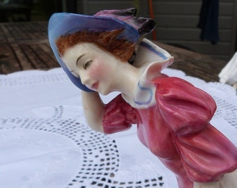 "Royal Doulton ""Windflower"" Figurine, made in the 1930's and retired in 1949. Rare Doulton Lady."