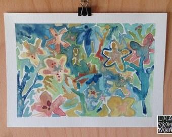 Bloom Meditation {watercolor}