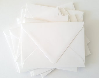 A7 size Premium White Textured V-Flap Envelope