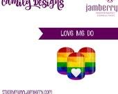 Love Me Do- Custom NAS Jamberry nail wrap