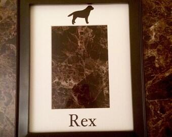 Labrador Retriever lab silhouette picture frame