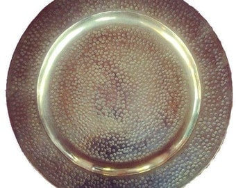 Moroccan hammered tray / charger