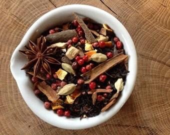 No.3 Orange Chai - loose leaf - Cinnamon - Cardamon - Orange Peel - Pink Peppercorns - Star Anise - Cloves - Ginger root.-60g