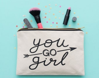Pencil Pouch - Cosmetics Pouch - Makeup Pouch - Clutch Bag - Cosmetic Canvas Bag - Funny Slogan Bag - Gift For Friends - Alphabet bag