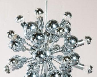 60 cm große original (!) Sputnik Leuchte der 60er / 70er Jahre
