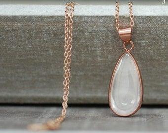 Opal Rosegold Kette