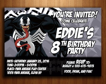 Venom Birthday Invitation - Digital Printable File
