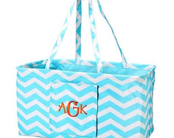 Chevron Overnight Bag | Carry All Bag | Beach Bag | Monogram Pool Bag | Summer Bag | Graduation Gift