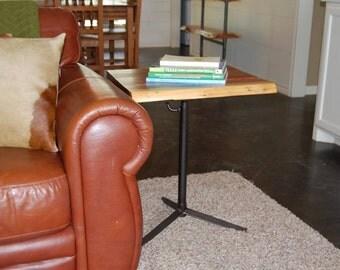 Adjustable Cedar Top Side Table