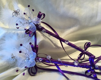 Small Butterfly Wand Flowergirl Wand Handmade to any Colour theme