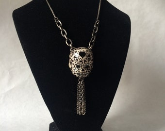 sugar skull doll head pendant