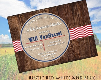 Rustic Red White and Blue
