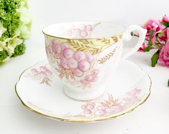 Vintage Bell China Teacup & Saucer | Tea party teacup, english teacup, pretty teacup, pink teacup, bone china teacup, vintage teacup