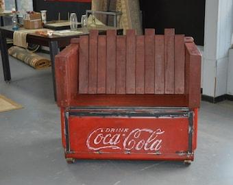 Coca Cola Bench Etsy