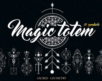 Sacred Geometry. Magic totem. DIY