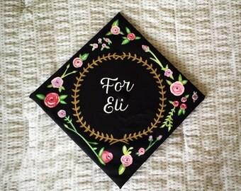 Flower Graduation Cap --- Made to Order
