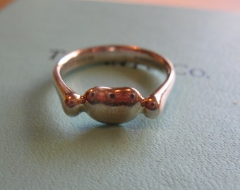 Tiffany & Co Sterling Silver Elsa Peretti Bean Ring
