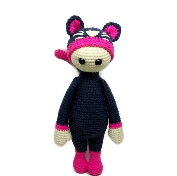 Handmade Crochet Toy Lalylala Cat Amigurumi Doll ?? delorukami