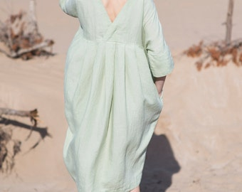 Linen Dress Motumo - 16S6