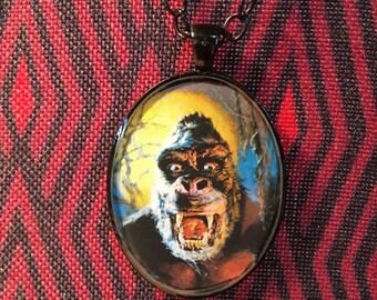 King Kong Universal Monsters Gogos Resin Pendant Necklace Horror Monster