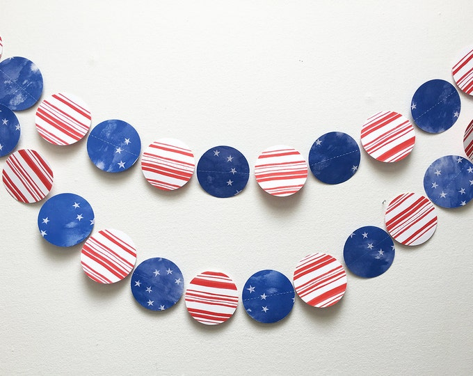 4th of July Garland - Stars and Stripes Garland